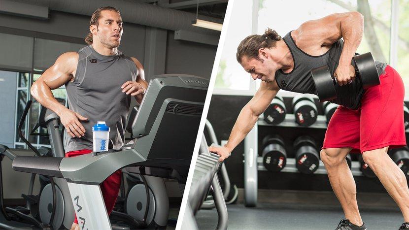 خسارة الدهون وزيادة العضلات