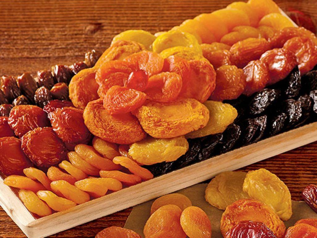 السعرات الحرارية في الفواكه المجففة