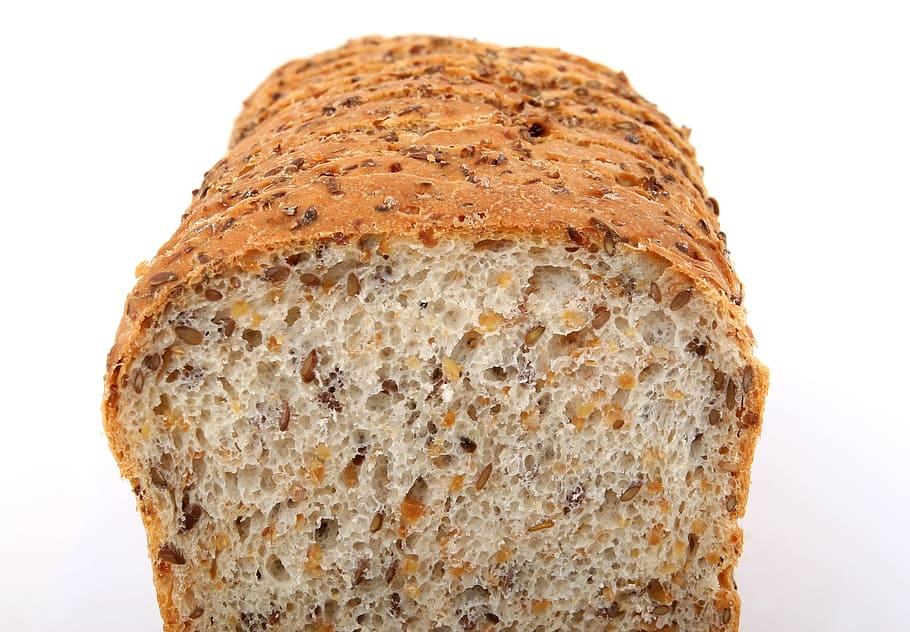 السعرات الحرارية في الخبز الحبوب الكاملة