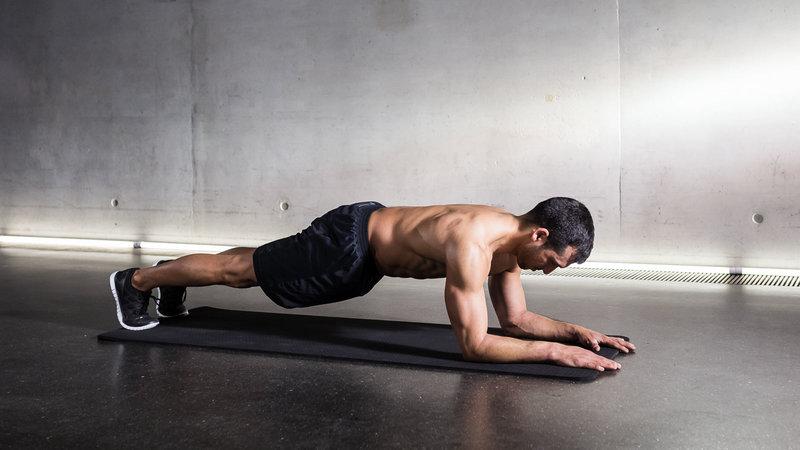 Low-plank تمارين الظهر في المنزل