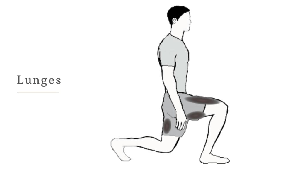 lunges- تنحيف الأرداف بسرعة