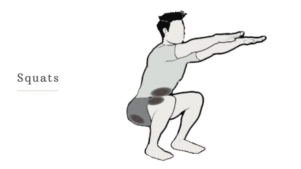 squats-تنحيف الأرداف بسرعة